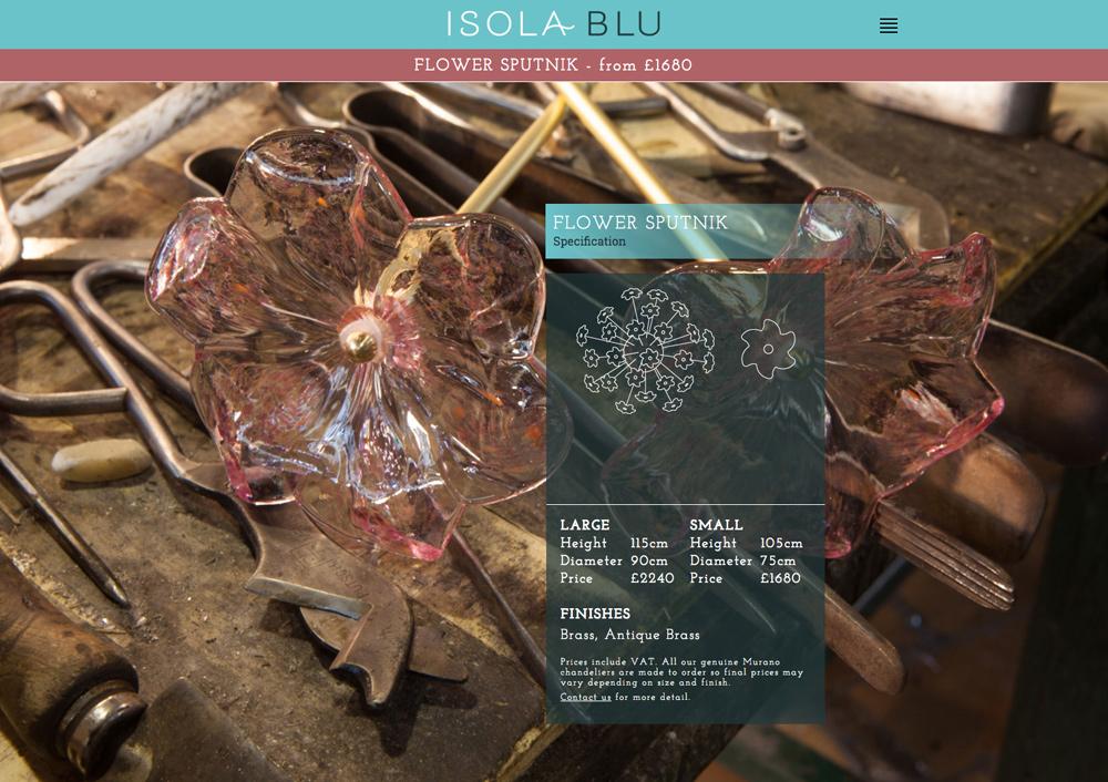Isola Blu Website